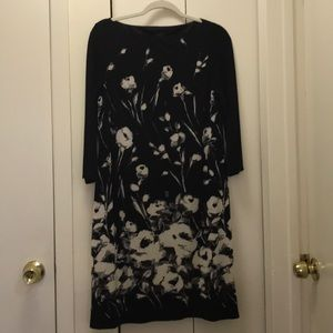 Black Dress by CHAPS. Black & Ivory floral dress